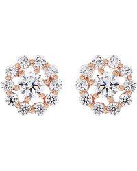 Carat* - Flora Rose Gold Stud Earrings - Lyst