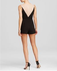Lush - Sleeveless Lace Inset Romper - Lyst