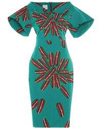 Stella Jean Mandrillo Printed Midi Dress - Lyst