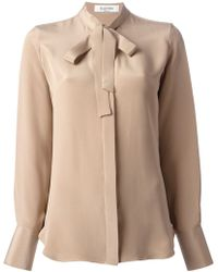 Valentino Bow Detail Shirt - Lyst