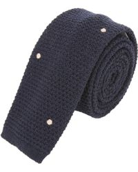Margaret Howell Embroidered Seed-Stitch Neck Tie - Lyst