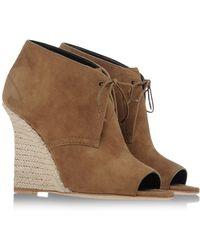 Burberry Khaki Ankle Boots - Lyst