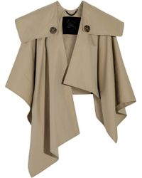 011e1ea33a0 Burberry Prorsum - Cotton-Gabardine Trench Cape - Lyst