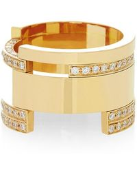 Maison Dauphin - Bold Asymmetric Yellow Gold Ring - Lyst