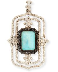 Armenta Blue Turquoise Rectangle Scroll Enhancer - Lyst