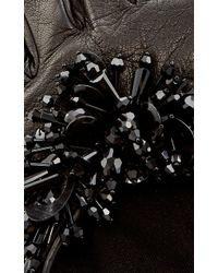 Oscar de la Renta - Black Paillette-embroidered Gloves - Lyst