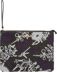 Kenzo Purple Quilted Monster Print Zip Pouch - Lyst