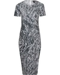 McQ by Alexander McQueen Silver Shard Print Bodycon Dress - Lyst