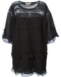 Etoile Isabel Marant Black Cassy Dress - Lyst