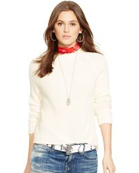 Ralph Lauren Pima Cotton Crew Neck Sweater - Lyst