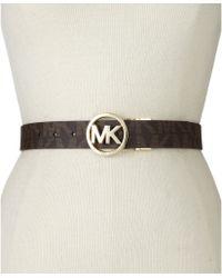 Michael Kors Michael Reversible Logo With Logo Buckle Belt - Lyst