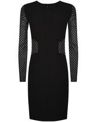 Emilio Pucci Crystal Sleeve Dress - Lyst