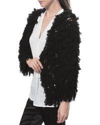 Ryan Roche Fuzzy Jacket black - Lyst
