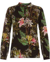 Etoile Isabel Marant Wescott Ls Floral Print Blouse - Lyst