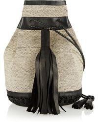 Wendy Nichol - + Vanderhurd Bullet Leather-trimmed Silk-dhurrie Bucket Bag - Lyst
