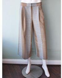 Tibi Horizon Striped Edie Culottes khaki - Lyst