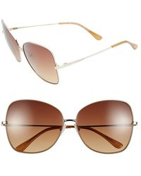 BCBGMAXAZRIA - 'sunkissed' 59mm Butterfly Sunglasses - Lyst