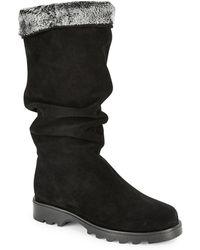 La Canadienne Kody Shearling-lined Suede Boots - Black