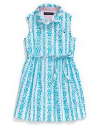 Tommy Hilfiger Hibiscus Stripe Dress - Lyst