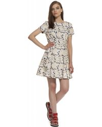 Suno Short Sleeve Fit and Flare - Lyst