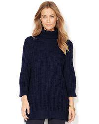 Lauren by Ralph Lauren Ribbed Turtleneck Sweater - Lyst