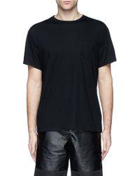 T By Alexander Wang Patch Pocket Cotton Jersey T-Shirt - Lyst