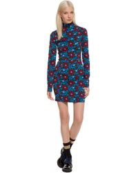 Suno Fitted Turtleneck Dress - Lyst