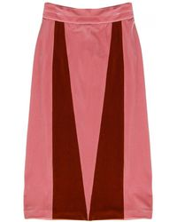 Alexander Lewis - Shoshana Paneled Skirt - Lyst