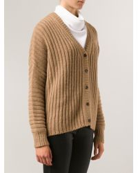 Michael Kors Ribbed Wide Cardigan - Lyst