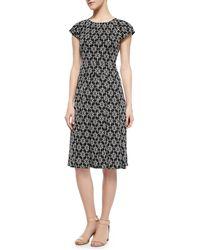 Tory Burch Sophia Printed Silk Dress - Lyst