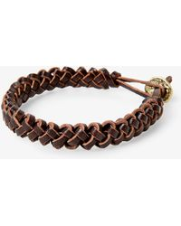Mango - Braided Leather Bracelet - Lyst