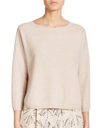Akris Punto Boxy Wool Sweater beige - Lyst