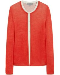 Mulberry Scribble Stitch Cardigan - Lyst