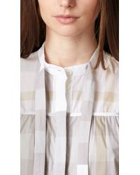 Burberry - Exploded Check Cotton Voile Sleeveless Shirt - Lyst
