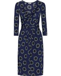 Issa Wrap-Effect Sunflower-Print Crepe-Jersey Dress - Lyst