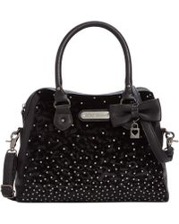Betsey Johnson Crystal Love Dome Satchel - Lyst