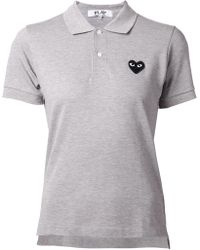 Play Comme des Garçons Embroidered Heart Polo Shirt - Lyst