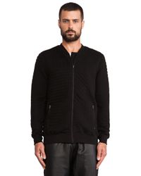 Lot78 Black Quilted Bomber - Lyst