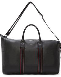 Paul Smith Black Pebbled Leather Holdall Bag - Lyst