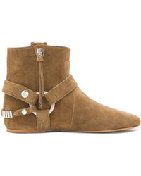 Isabel Marant Ralf Gaucho Calfskin Velvet Leather Boots - Lyst