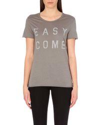 Zoe Karssen Easy Come Easy Go Jersey T-shirt - Lyst