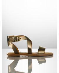 Ralph Lauren Collection Specchio Leather Renita Sandal - Lyst