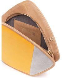 Feather M - Friday Clutch Yellow & Grey - Lyst
