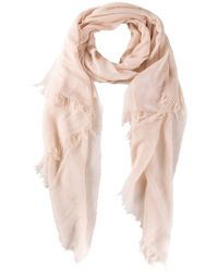 Vince Raw Edged Scarf - Natural