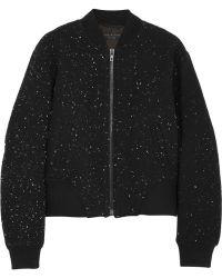 Rag & Bone Challenge Embroidered Textured Jersey Bomber Jacket - Lyst