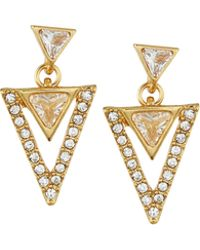 Lydell NYC - Golden Triangle Drop Earrings - Lyst