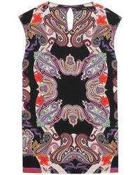 Etro Printed Top multicolor - Lyst