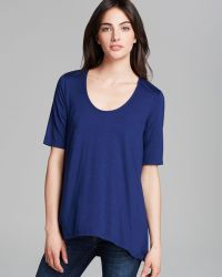 Three Dots Elbow Sleeve Relaxed Highlow Tee - Lyst