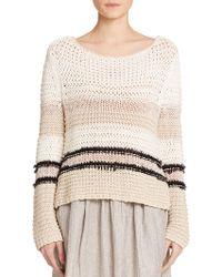 Rag & Bone Lulu Open-Knit Sweater - Lyst