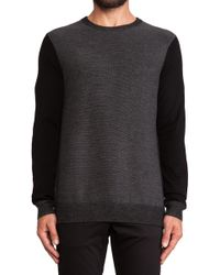 Vince Contrast Sleeve Striped Pullover - Lyst